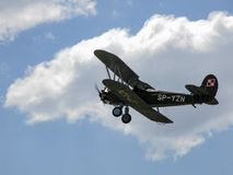 De oude vliegtuigen WSK-Okecie css-13 van de tweedekkerzuiger tijdens vertoning in Goraszka Royalty-vrije Stock Afbeelding