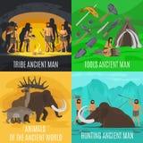 De oude voorhistorische concepten van de steenleeftijd Stock Foto