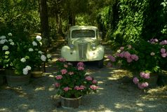 De oude vrachtwagen van de tijdopnemeroogst Royalty-vrije Stock Foto's
