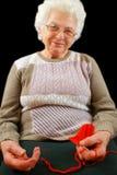 De oude vrouw stock foto