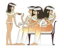 De oude vrouw van Egypte Royalty-vrije Stock Afbeelding