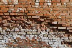 De oude vuile baksteen wal Royalty-vrije Stock Foto