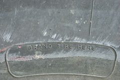 De oude vuile textuur van het bandmerk Royalty-vrije Stock Foto