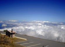 De oude vulkaan van Haleakala van het gezichtspunt Royalty-vrije Stock Afbeelding