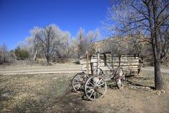 De oude wagen van de pioniersklem Stock Afbeelding