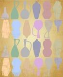 Oude waterkruiksilhouetten Royalty-vrije Stock Afbeeldingen