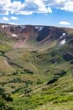 De oude weg van Fall River - rotsachtig berg nationaal park Colorado Stock Foto