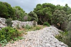 De oude weg van het eilandgrint Royalty-vrije Stock Afbeeldingen
