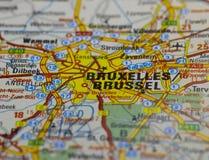 De Oude Wegenkaart van Brussel stock afbeelding