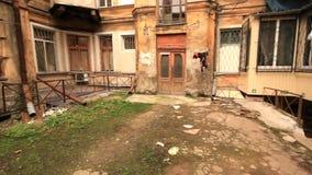 De oude werf van Odessa stock video