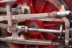 De oude wielen van de choo-chootrein Royalty-vrije Stock Afbeeldingen
