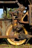 De oude wielen van de stoomtrein Royalty-vrije Stock Afbeelding