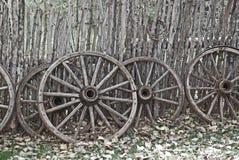 De oude Wielen van de Wagen van het Westen Royalty-vrije Stock Afbeelding