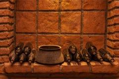 De oude wijnkelders zijn in Georgië royalty-vrije stock afbeelding