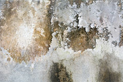 De oude witte muren met verschillende schaduwen Stock Foto's