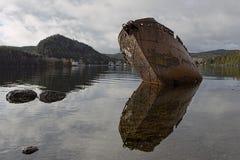 De oude Wrakken van het Schip in Ayr Schotland Royalty-vrije Stock Afbeeldingen