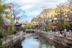 De oude yunnan stad van Lijiang, China Stock Fotografie