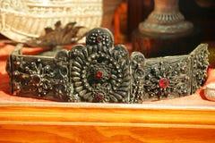 De oude zilveren riem van Inwoner van Montenegro royalty-vrije stock afbeelding