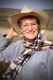 De oudere Dame van het Land Stock Fotografie