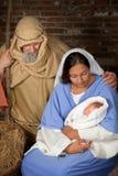 De ouders van de geboorte van Christus royalty-vrije stock foto's