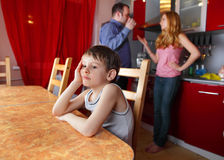 De ouders zweren, en kindzorgen Royalty-vrije Stock Afbeelding