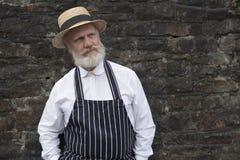 De de ouderwetse slager/bakker van 1940 stock foto