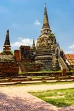 De oudste en mooiste pagode in Ayutthaya royalty-vrije stock foto's