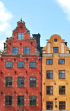 De oudste gebouwen in Stockholm Royalty-vrije Stock Foto