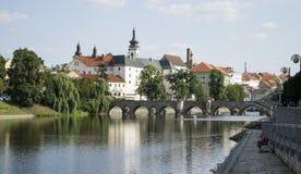 De oudste steenbrug in Midden-Europa royalty-vrije stock afbeelding