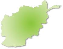 De outile kaart van Afganistan stock foto