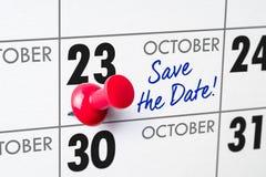 23 de outubro Imagens de Stock