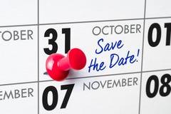 31 de outubro Foto de Stock Royalty Free