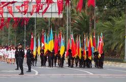 29 de outubro celebração do dia da república de Turquia Fotos de Stock