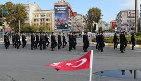 29 de outubro celebração do dia da república em 2017 Imagem de Stock