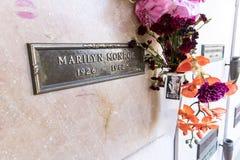 25 de outubro cripta do ` s Monroe de Marilyn fotografia de stock royalty free