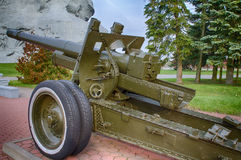 25 de outubro de 2015 - Bresta, Bielorrússia: Um monumento dedicado a uma guerra mundial 2, situada na fortaleza de Bresta Imagens de Stock