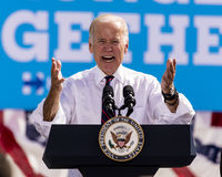 13 DE OUTUBRO DE 2016: Campanhas do vice-presidente Joe Biden para Nevada Democratic U S Candidato Catherine Cortez Masto do Sena Fotos de Stock
