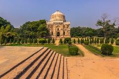 27 de outubro de 2014: Construção antiga nos jardins de Lodi no De novo Imagens de Stock