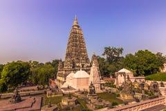 30 de outubro de 2014: Jardins do templo budista de Mahabodhi na BO Imagem de Stock
