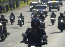6 de outubro de 2013 motociclistas de Moscou Fotos de Stock