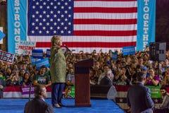 12 de outubro de 2016, o candidato presidencial Democrática Hillary Clinton faz campanha em Smith Center para as artes, Las Vegas Foto de Stock