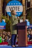 12 de outubro de 2016, o candidato presidencial Democrática Hillary Clinton faz campanha em Smith Center para as artes, Las Vegas Foto de Stock Royalty Free