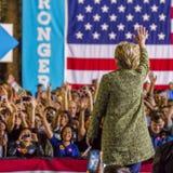 12 de outubro de 2016, o candidato presidencial Democrática Hillary Clinton faz campanha em Smith Center para as artes, Las Vegas Fotografia de Stock