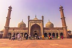28 de outubro de 2014: Opinião frontal Jama Masjid Mosque em novo Fotos de Stock