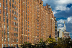 24 de outubro de 2016 - prédios de apartamentos New York City do tijolo Foto de Stock Royalty Free