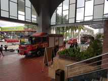 5 de outubro de 2016 Subang Jaya, Malásia O exercício da broca de fogo no hotel Subang USJ da cimeira foi feito esta manhã Fotografia de Stock