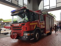 5 de outubro de 2016 Subang Jaya, Malásia O exercício da broca de fogo no hotel Subang USJ da cimeira foi feito esta manhã Foto de Stock Royalty Free