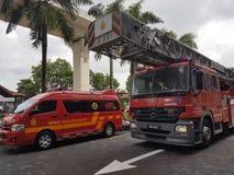 5 de outubro de 2016 Subang Jaya, Malásia O exercício da broca de fogo no hotel Subang USJ da cimeira foi feito esta manhã Imagem de Stock