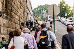 2 de outubro de 2014: Washington, C.C. - pessoa que viaja através da união Foto de Stock Royalty Free