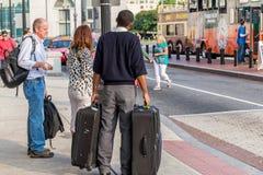 2 de outubro de 2014: Washington, C.C. - pessoa que viaja através da união Foto de Stock